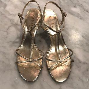 Lauren Ralph Lauren gold Nyah metallic heel